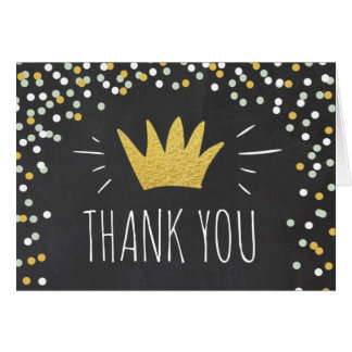Wild One Thank you card Crown Wild Things Boy Gold