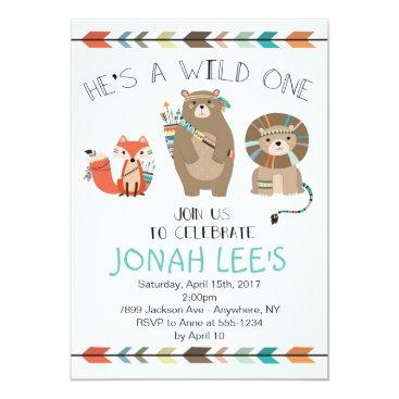 FavoriteThingsDesign Wild One - Tribal First Birthday Invitation