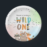 "Wild One Tribal Woodland birthday Paper Plates<br><div class=""desc"">♥ A perfect addition to your little one&#39;s birthday party! Wild One birthday theme with tribal woodland animals.</div>"