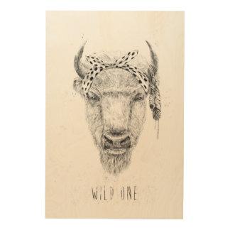Wild one wood print