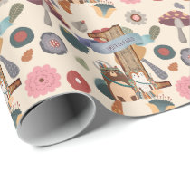 Wild One Woodland Animals Partyware Customizable Wrapping Paper