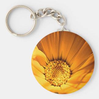 Wild Orange Daisy Keychain