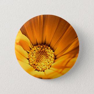 Wild Orange Daisy Pinback Button