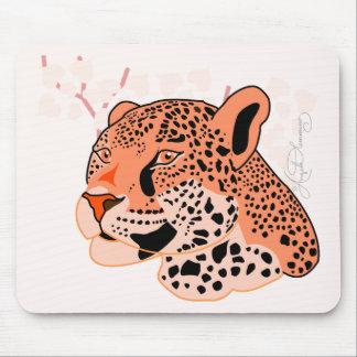 Wild Orange Jaguar Mouse Pad
