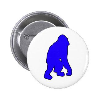 Wild Orangutan Great Ape Monkey Silhouette Pins