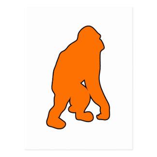 Wild Orangutan Great Ape Monkey Silhouette Postcard