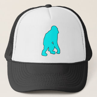 Wild Orangutan Great Ape Monkey Silhouette Trucker Hat