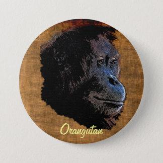 Wild Orangutan Great Apes Primate Art Badge Button
