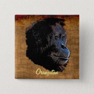 Wild Orangutan Red Apes Primate Art Badge Button