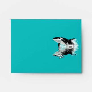Wild Orca Killer Whale Wildlife Postal Envelope