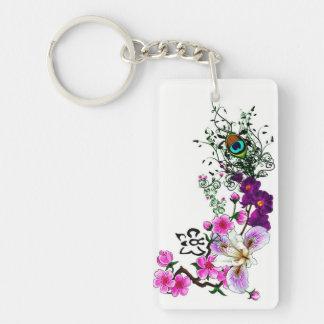 Wild Orchid Keychain