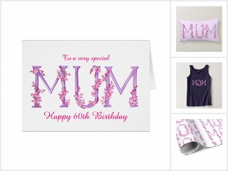 Wild orchid mum / moms gifts and cards