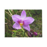 Wild Orchid Purple Tropical Flower Doormat