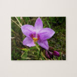 Wild Orchid Purple Tropical Flower Jigsaw Puzzle