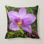 Wild Orchid Purple Tropical Flower Throw Pillow