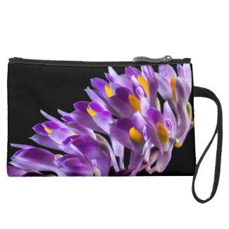 wild orchid suede wristlet wallet