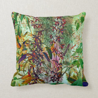 Wild orchids in red cushion pillow