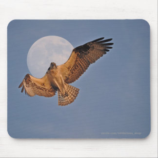 Wild Osprey & Super Moon Photo Design Mouse Pad