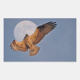 Wild Osprey & Super Moon Photo Design Rectangular Sticker