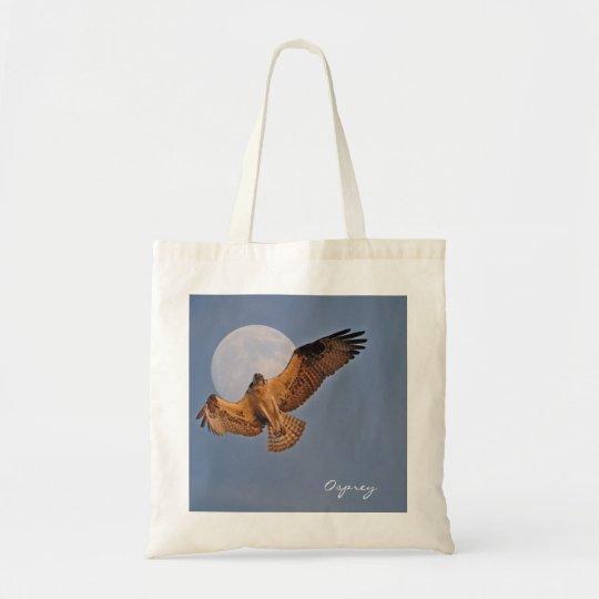 Wild Osprey & Super Moon Photo Design Tote Bag