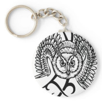 Wild Owl Keychain