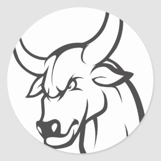 Wild Ox Classic Round Sticker
