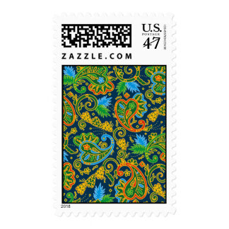 Wild Paisley Postage Stamp