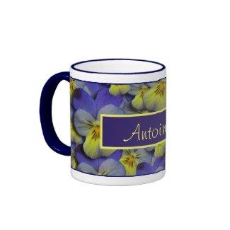 Wild Pansy Personalizable Mug mug
