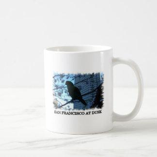 Wild parrot at dusk coffee mug
