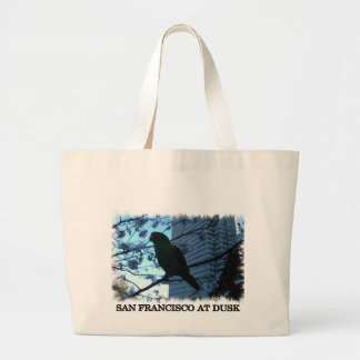 Wild parrot at dusk large tote bag