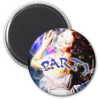 Wild Party 2 Inch Round Magnet