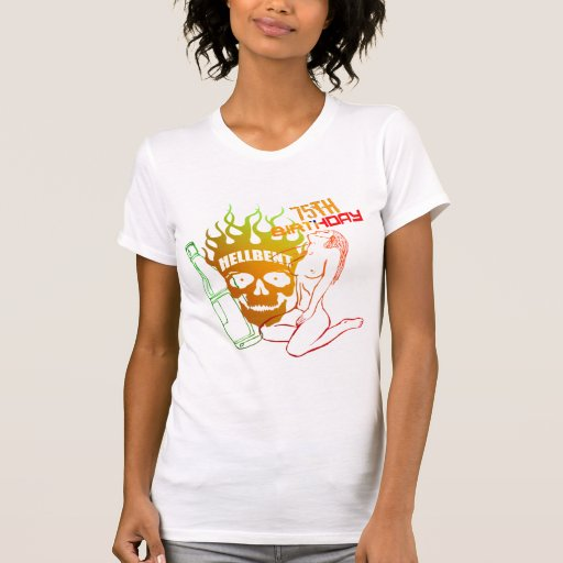 Wild Party 75th Birthday Gifts Tee Shirt