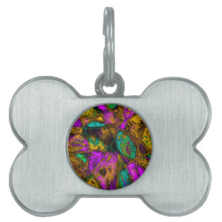 wild passion, pink pet ID tags