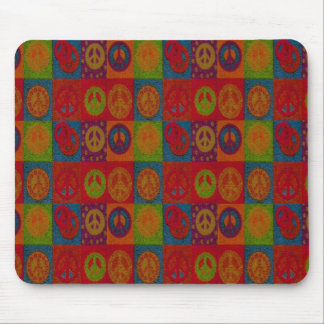 Wild Peace Signs ~Mousepad/ Retro Abstract Modern