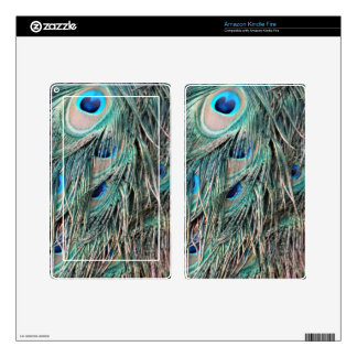 Wild Peafowl Feather Eyes Kindle Fire Decals