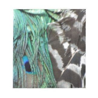 Wild Peafowl Feathers Notepad