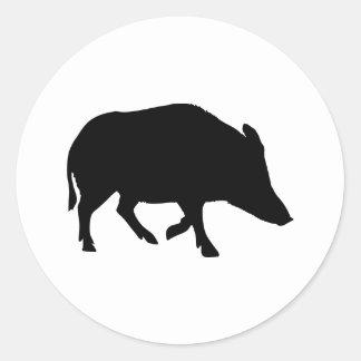 Wild pig - boar classic round sticker