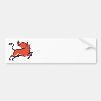 Wild Pig Razorback Hog Bumper Sticker