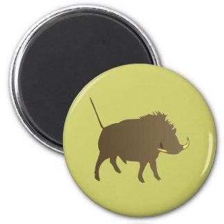 Wild pig wildly boar magnet