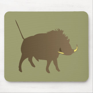 Wild pig wildly boar mouse pad