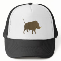 Wild pig wildly boar trucker hat