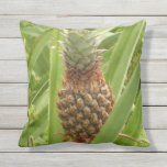 Wild Pineapple Tropical Fruit in Nature Outdoor Pillow