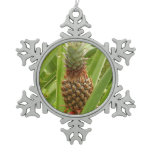 Wild Pineapple Tropical Fruit in Nature Snowflake Pewter Christmas Ornament