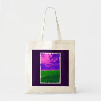 Wild pink and Green Wind Turbine Tote Bag