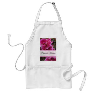 Wild pink orchids adult apron