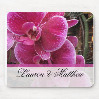 Wild pink orchids mouse pad