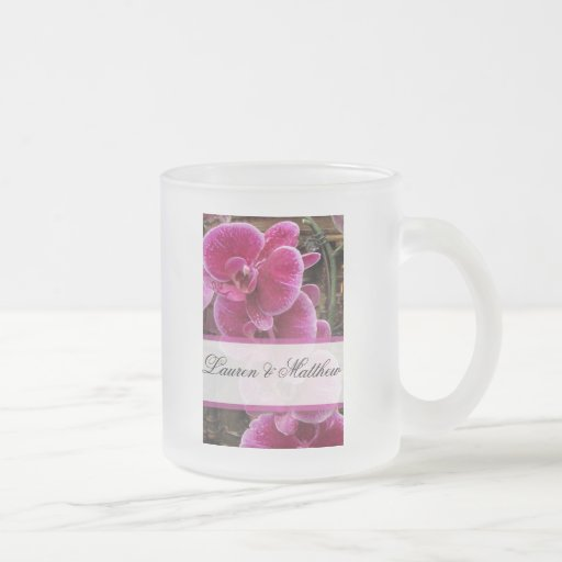 Wild pink orchids mugs