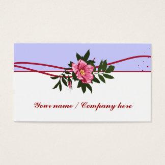 Wild pink rose lavender white floral business card