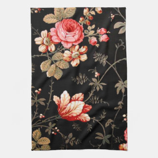 Wild Pink Roses Kitchen Towel