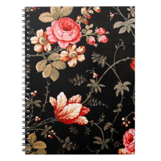 Wild Pink Roses Spiral Notebook
